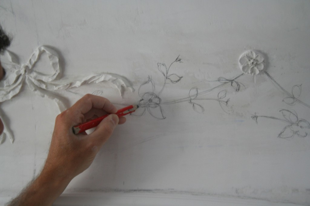 Decorazioni Per Soffitti A Volta : Stucchi floreali casa privata genova sito ufficiale di cre arte