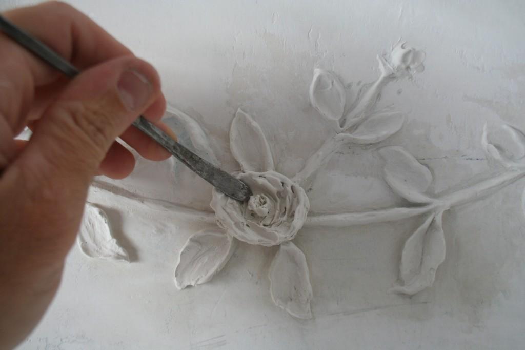 Modellato in gesso di stucchi floreali sito ufficiale di - Decori in gesso ...